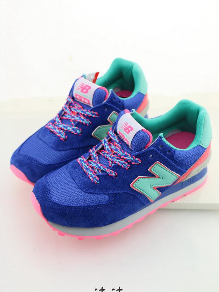 nb新款糖果蓝韩版女运动鞋