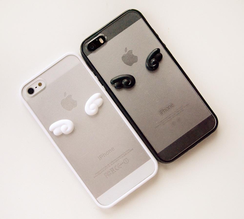 天使与恶魔情侣iphone手机壳