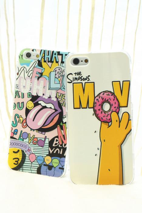 大舌头,辛普森,甜甜圈,日系,韩系,漫画,创意,手机壳,保护套,iphone5