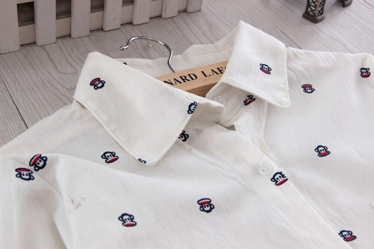 文艺小清新衬衫-来自蘑菇街优店