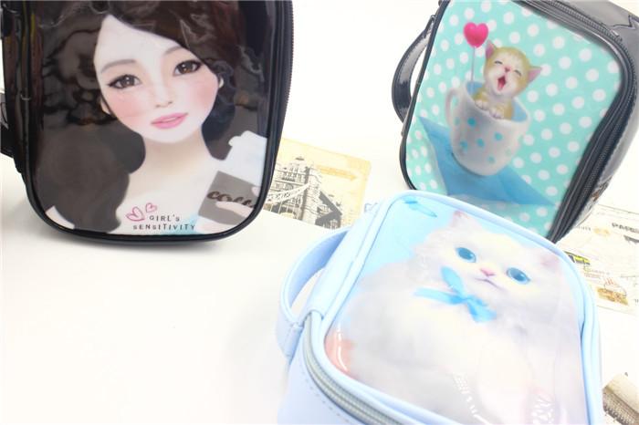 韩版唯美可爱化妆包