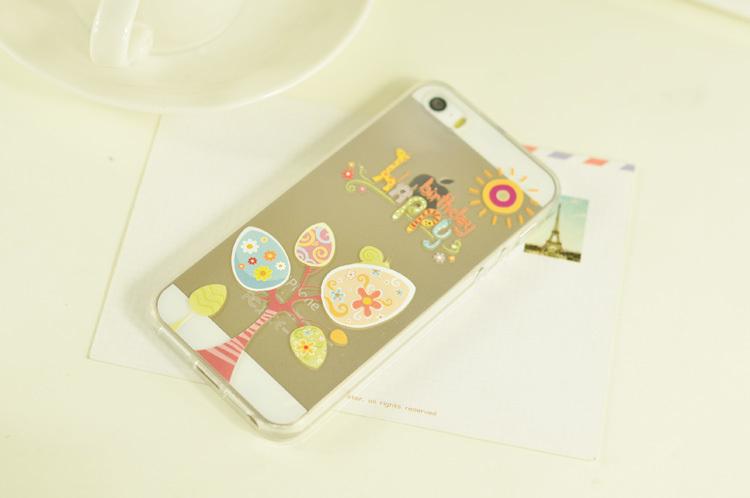 iphone5s苹果透明可爱软手机壳