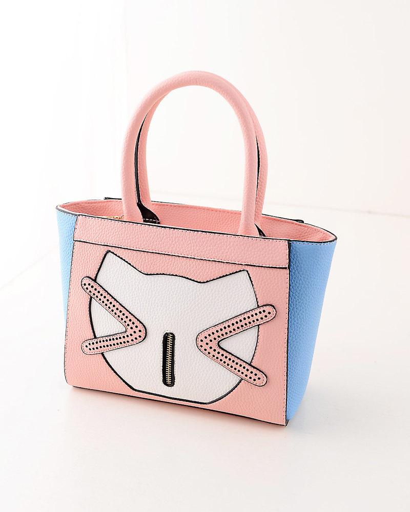 秋季韩版甜美可爱猫咪手提包