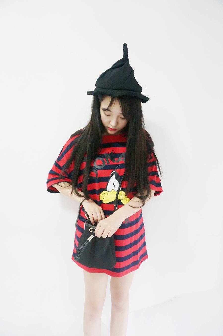 韩国可爱尖尖帽子-来自蘑菇街优店