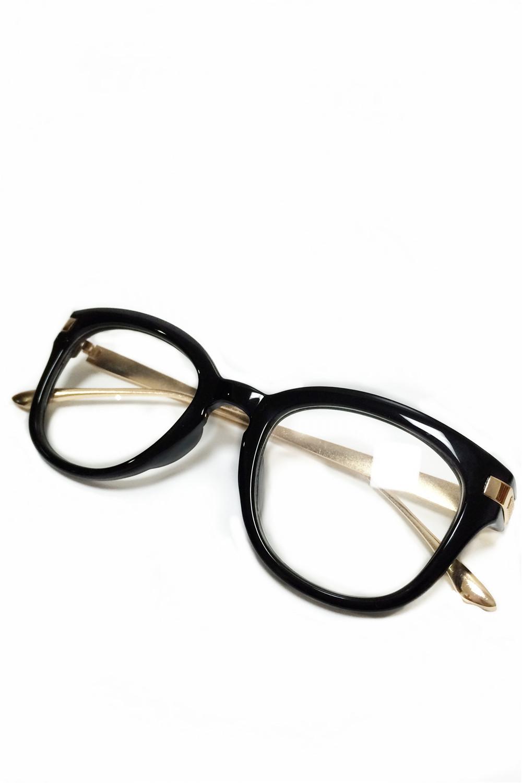 复古素颜黑框眼镜