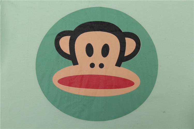 穿着效果 show 可爱大嘴猴长袖纯棉家居服,超萌超可爱的大嘴猴,想必是