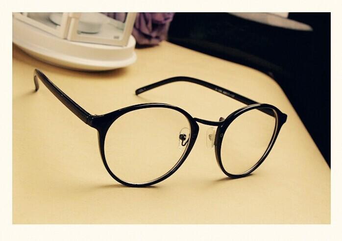 韩版圆形复古可爱眼镜架