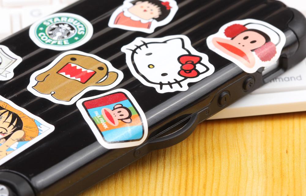 创意贴纸拉杆箱 苹果可爱手机壳