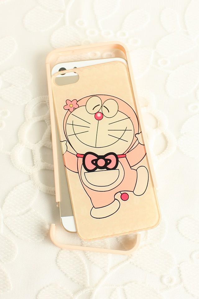 叮当猫 边框亚克力苹果手机壳