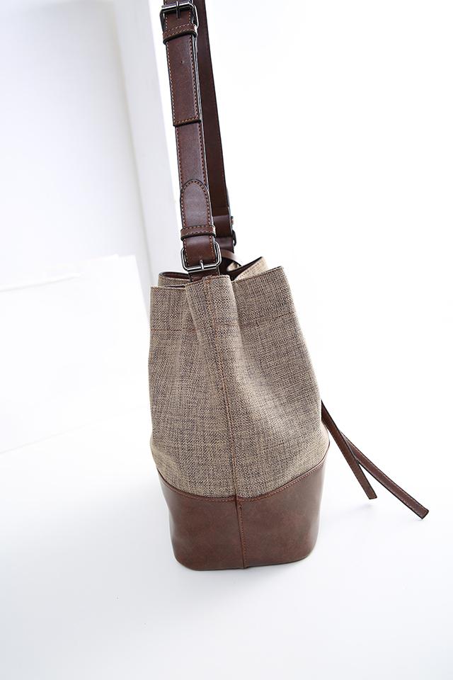 复古帆布水桶包-来自蘑菇街优店