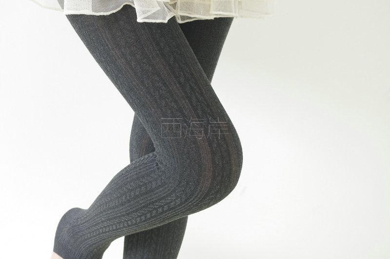 春秋花纹棉线脚踩袜
