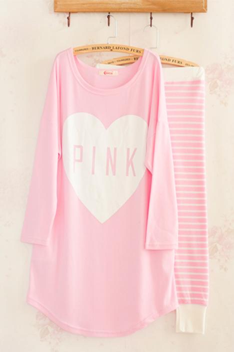 秋款韩国少女可爱睡衣家居服套装