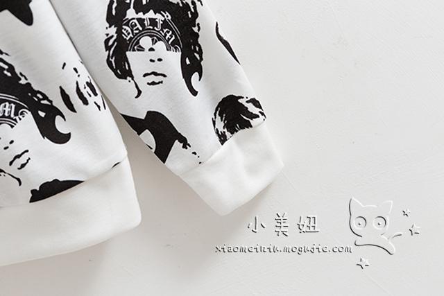 韩版个性人头像卫衣