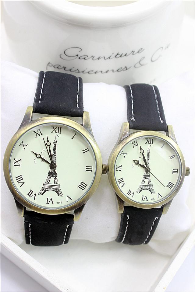 时尚埃菲尔铁塔复古情侣手表