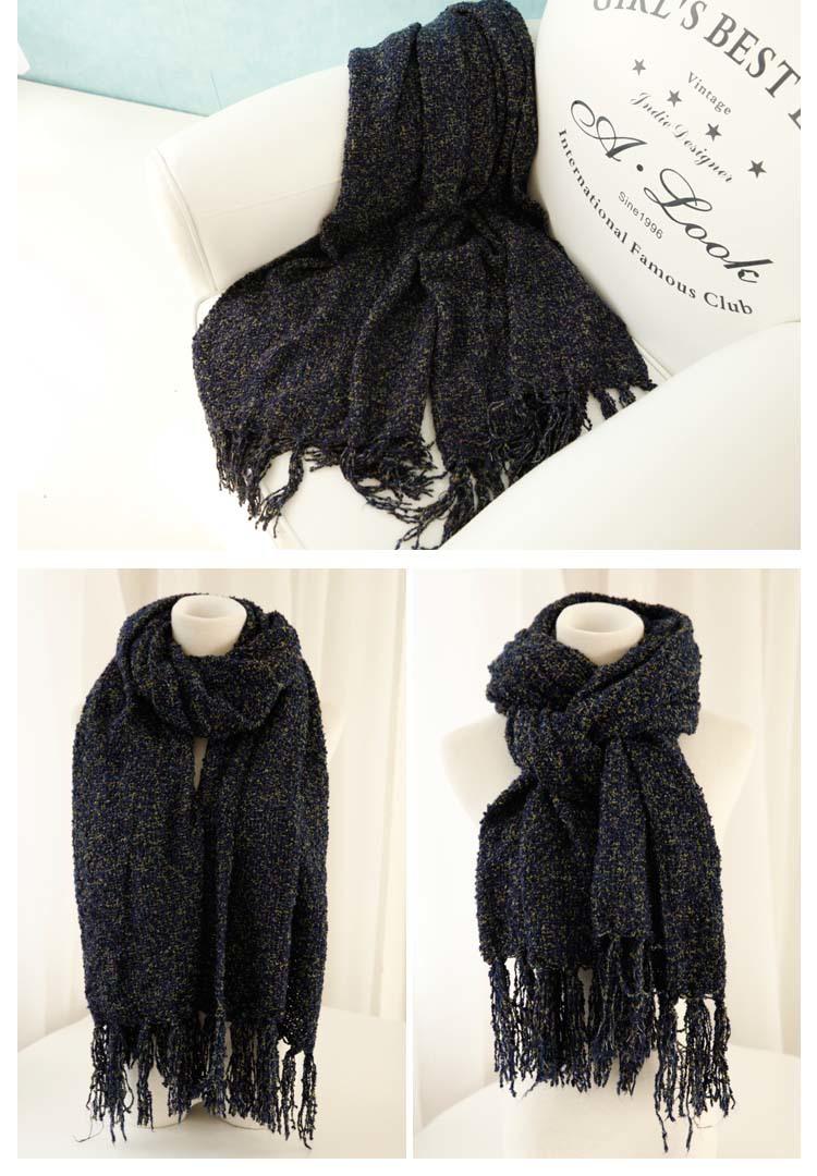 爱莎小铺新款纯色珊瑚绒围巾