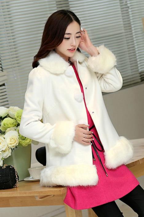 呢大衣,毛呢外套,韩版,宽松,长袖,百搭显瘦,甜美可爱,学院风,秋冬装
