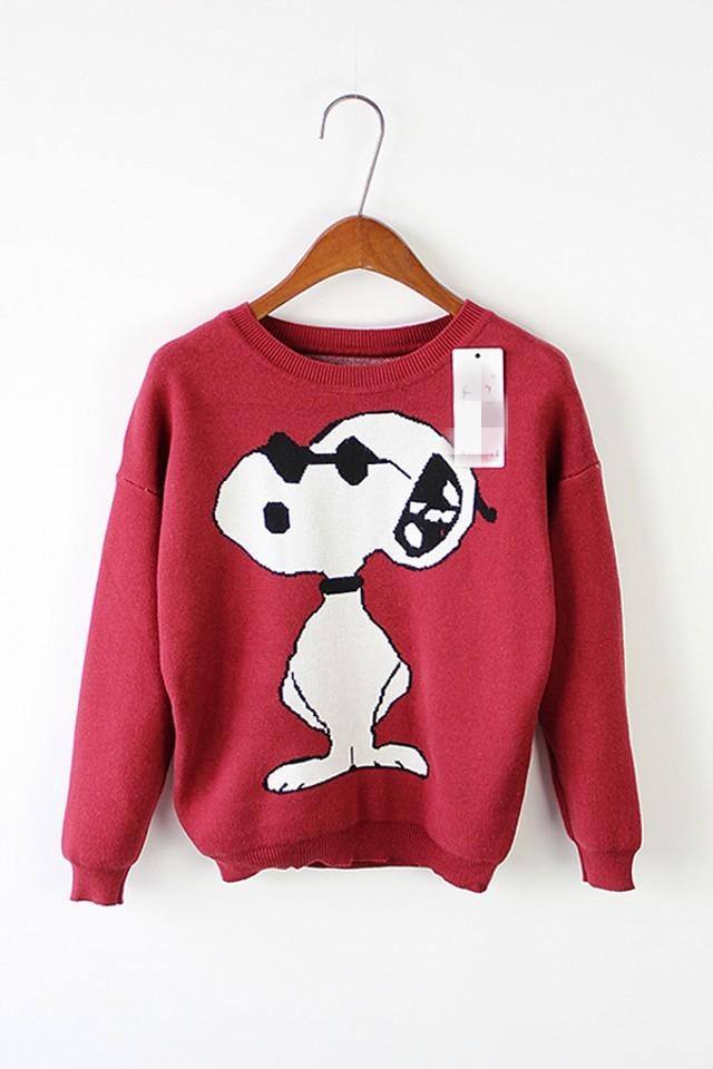 可爱卡通图案毛衣-来自蘑菇街优店