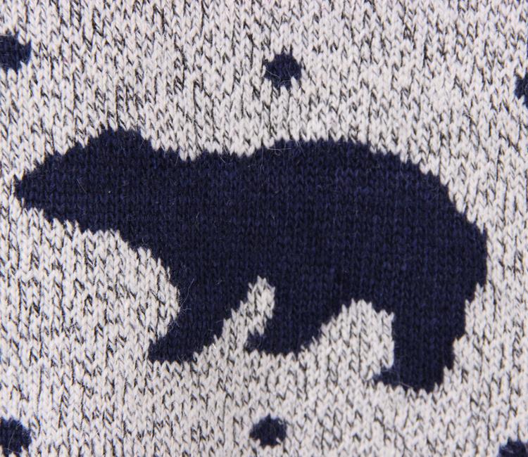 北极熊图案毛衣