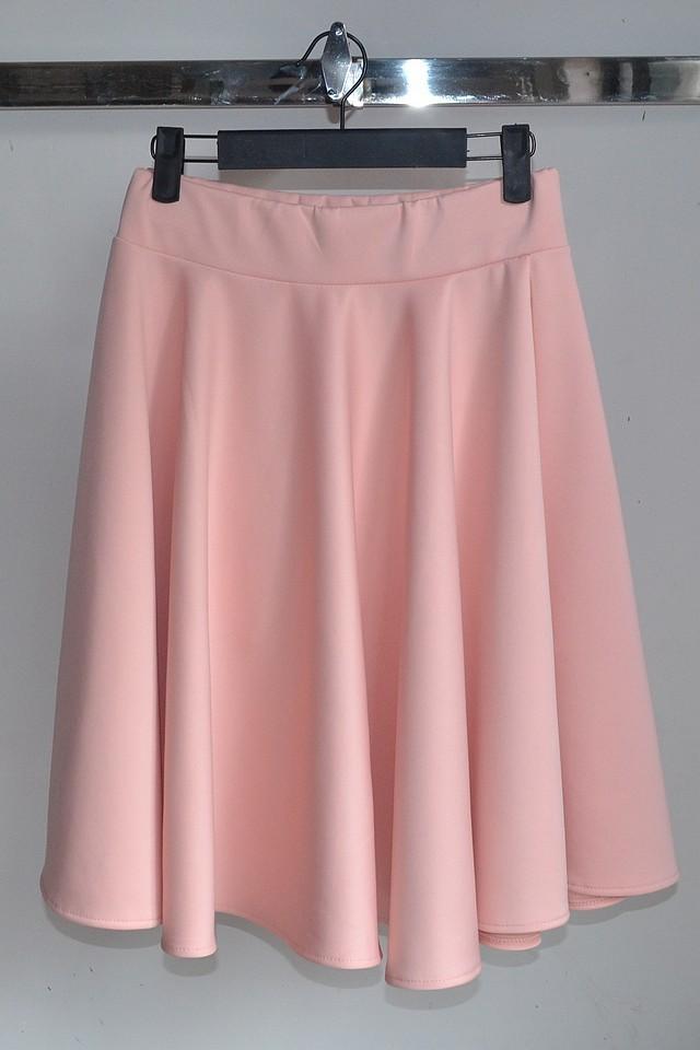 韩国太空棉中长款大摆裙