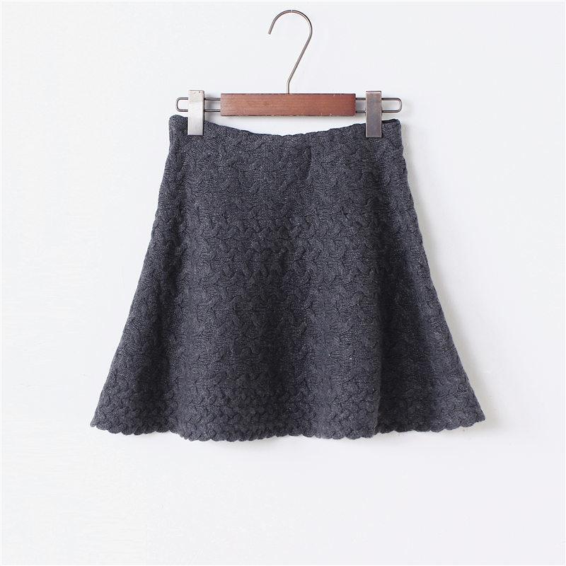 编织毛线半身裙-来自蘑菇街优店