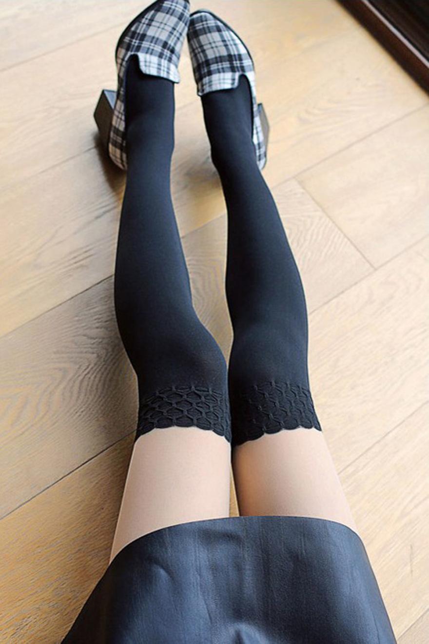 日系假长筒袜cos