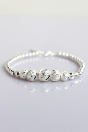 新款990纯银转运珠串珠手链