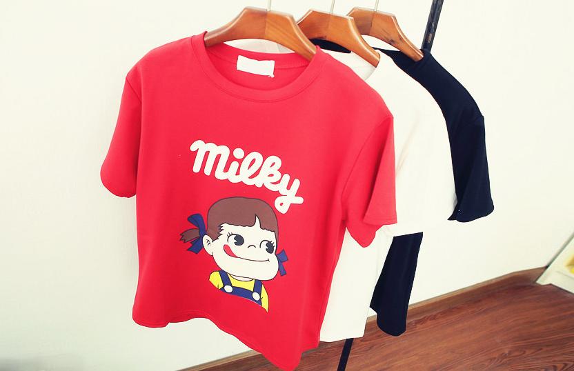 [小莉家]韩版可爱小女孩短袖t恤