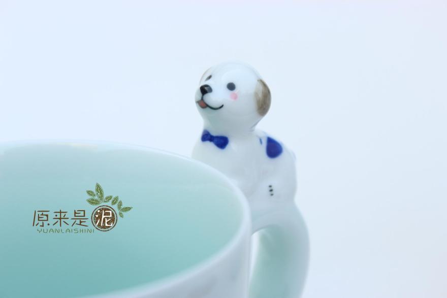创意陶瓷可爱小狗猫咪水杯