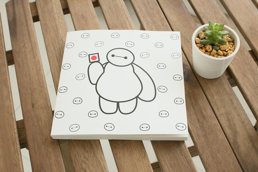 萌萌爱73可爱大白系列笔记本-来自蘑菇街优店