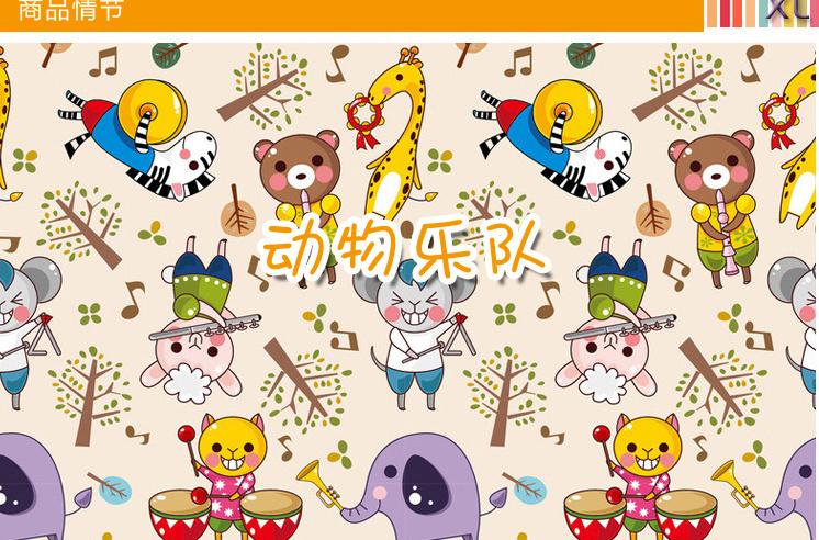可爱卡通动物乐队墙贴