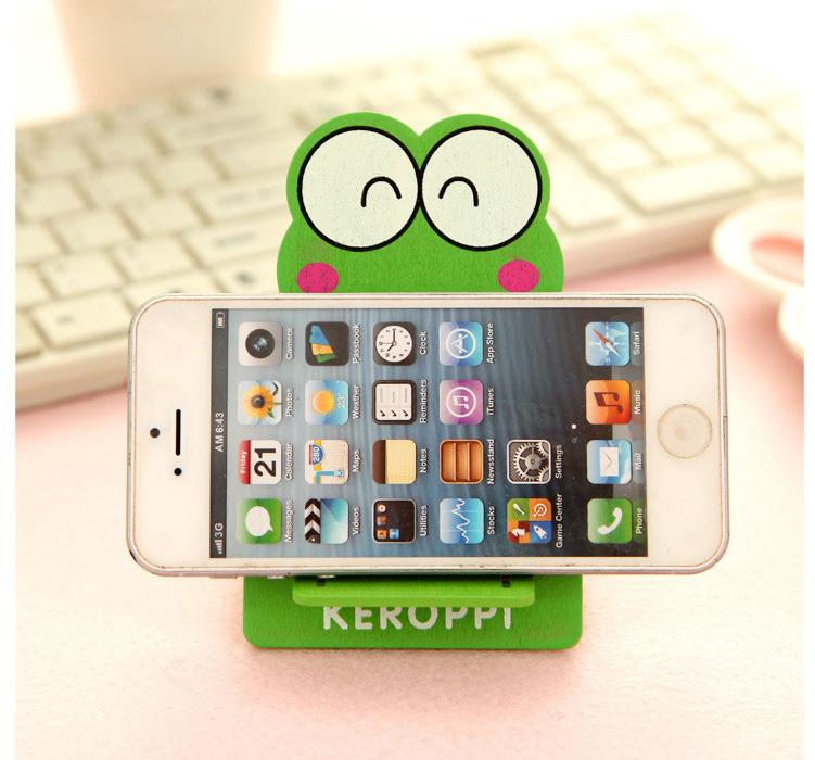 小动物木质手机支架