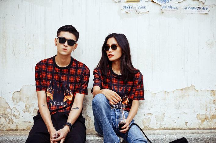 美式街头风范复古情侣短袖t恤
