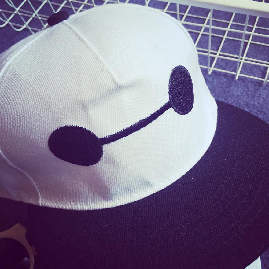 宝儿家 刺绣可爱卡通大白棒球帽
