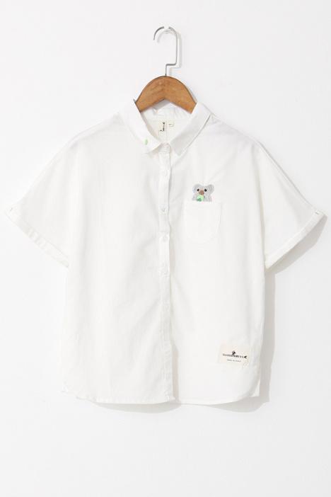 树懒刺绣短袖