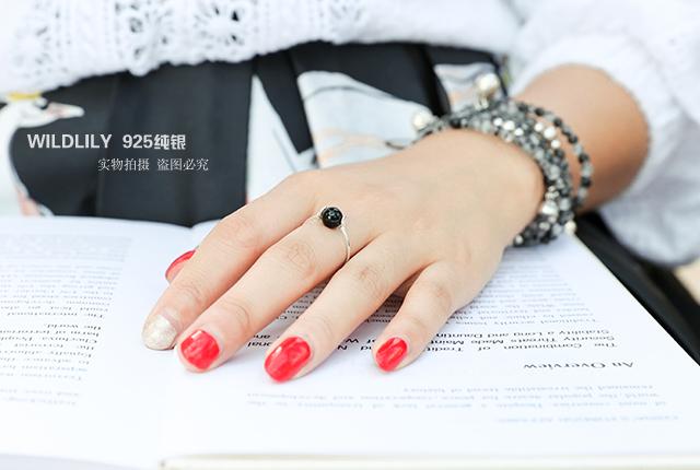 925纯银 玉髓转运珠戒指