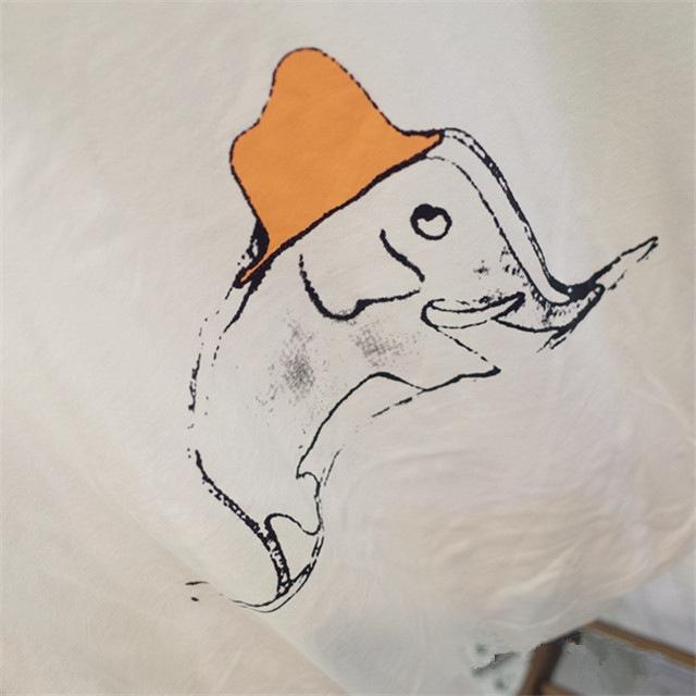 可爱涂鸦小象小红帽超级萌百搭t
