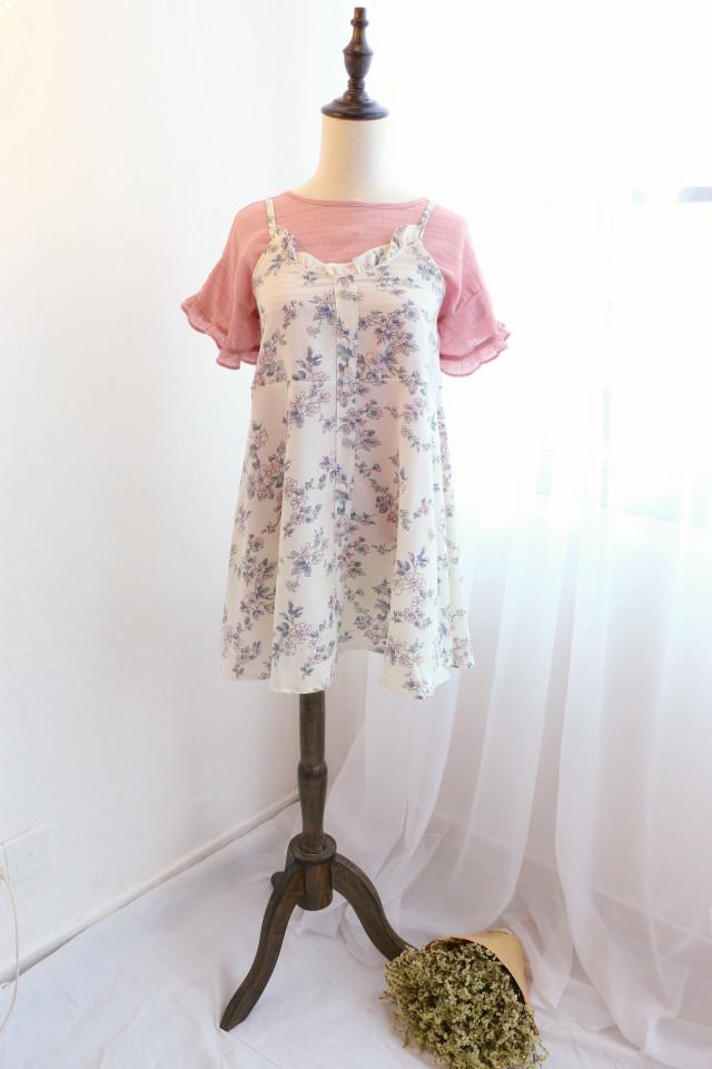 【小可爱雪纺t 吊带裙套装】-衣服-套装/学生校服