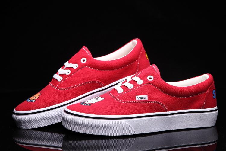 【新款权志龙涂鸦红色板鞋】-鞋子-板鞋