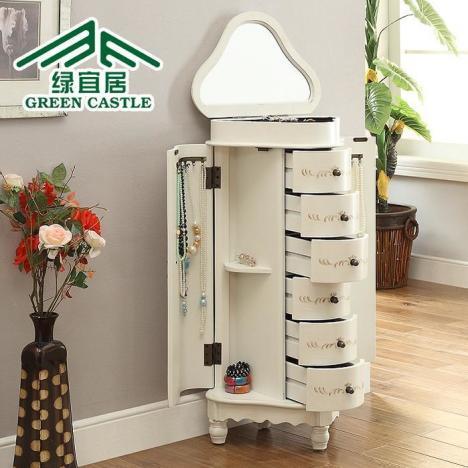 【欧式时尚多功能化妆柜卧室翻盖梳】--长安-蘑菇街