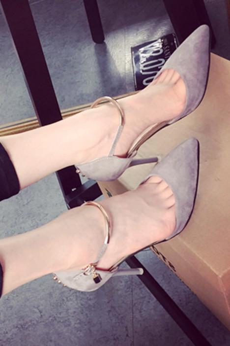 尖头鞋中跟ol优雅
