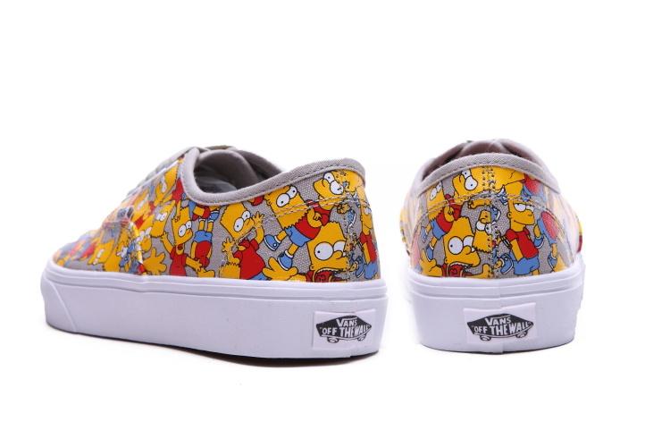 【vans辛普森卡通头像涂鸦帆布鞋】-鞋子-帆布鞋