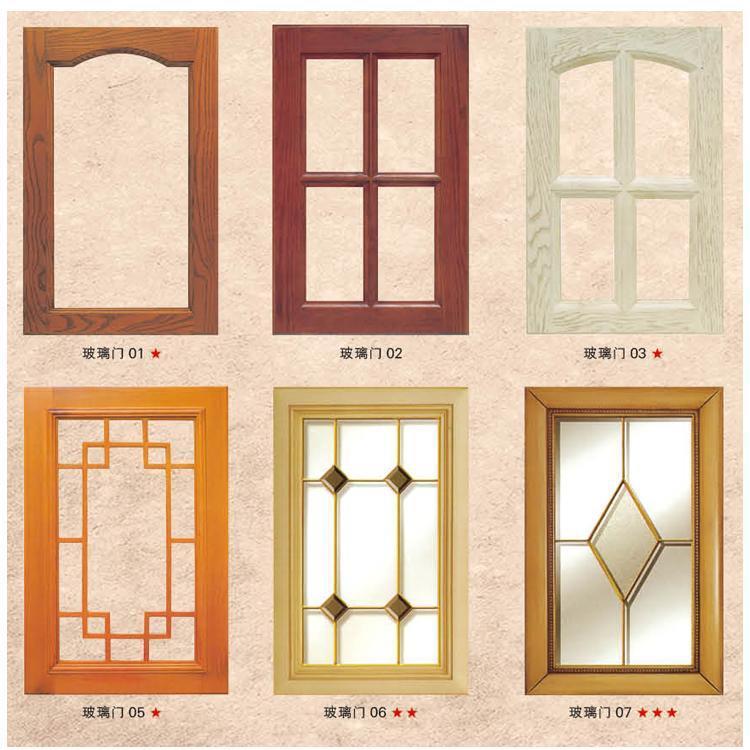 进口纯实木红橡木原木玻璃门定做美欧式橱柜门板铜条玻璃门罗马柱