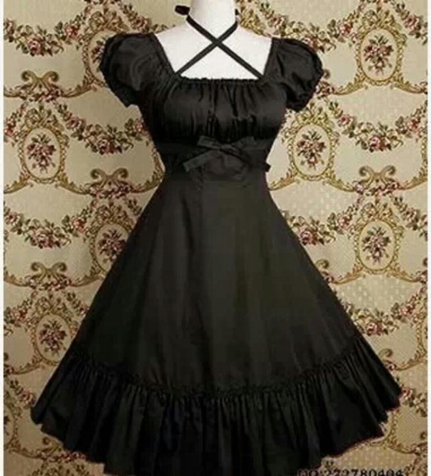 【日系暗黑洛丽塔洋装哥特式连衣裙】-连衣裙