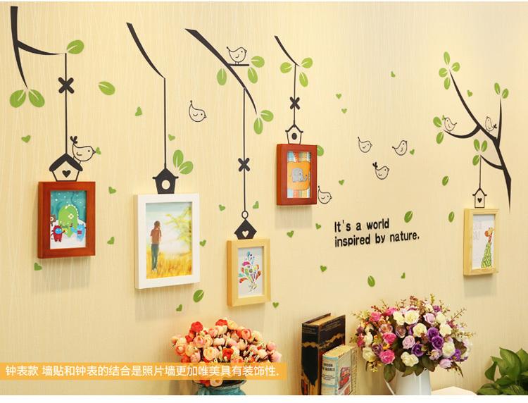 照片墙 创意挂墙贴画组合客厅墙面背景墙相片相框墙