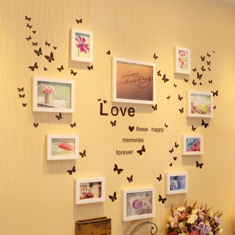 厅照片墙厅卧室创意背景墙