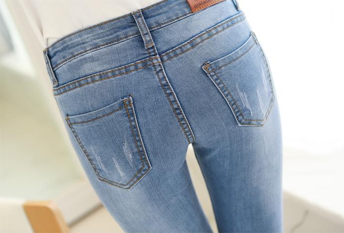 珍珍小店 小脚显瘦修身铅笔弹力牛仔裤