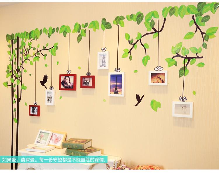树沙发卧室客厅背景墙照片墙欧式