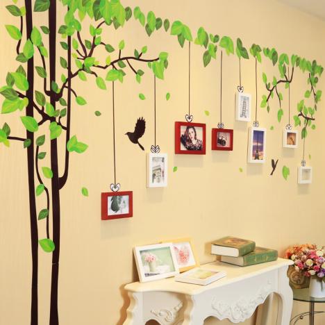 背景墙照片墙,沙发挂墙框