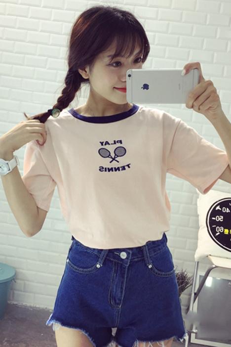 韩国可爱美眉t恤