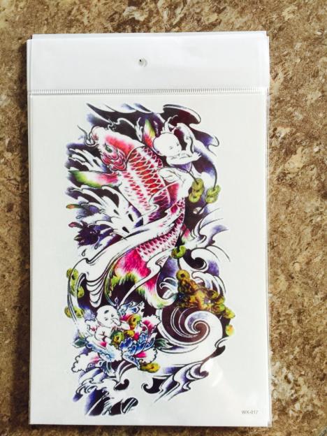 【彩色鲤鱼纹身贴】-无类目--喵喵的神奇小铺-蘑菇街